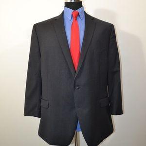 Calvin Klein 50R Sport Coat Blazer Suit Jacket Dar